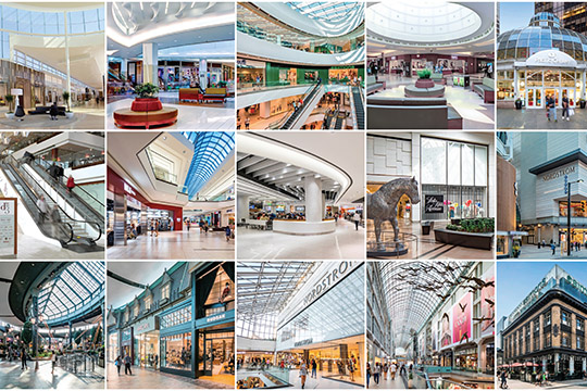 État des centres commerciaux canadiens