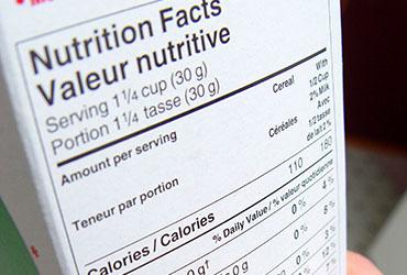 Pour les membres en alimentation : un cycle régularisé et prévisible pour le changements sur l'étiquetage des aliments au Canada