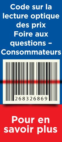 Code sur la lecture optique des prix Fore aus questions - Consommateurs. Pour en savoir plus