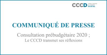 Consultation prébudgétaire2020