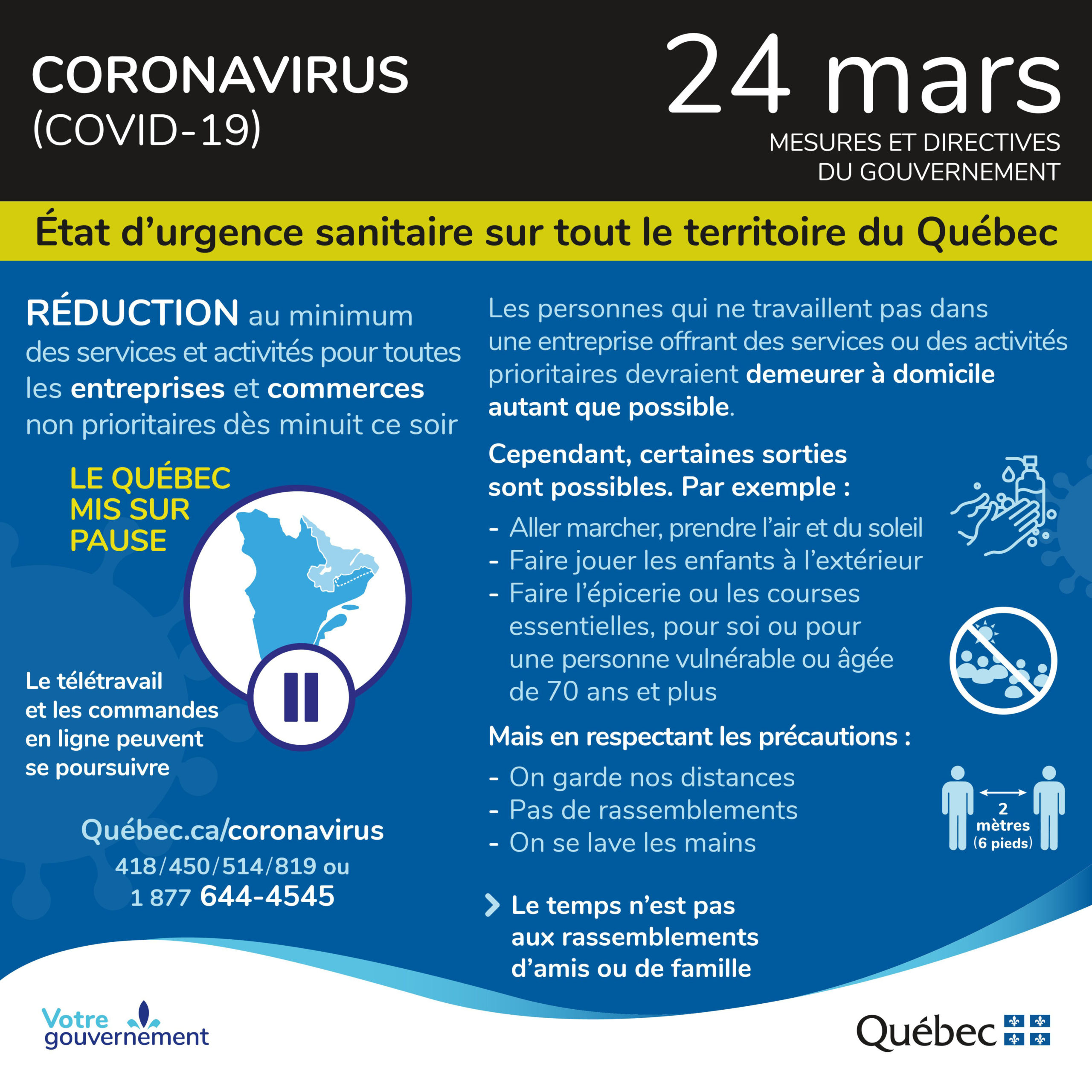 Quebec Summary Of The Latest Covid 19 Measures For April 21 Retail Council Of Canada