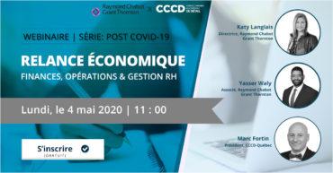 Revoir le webinaire: Relance économique – finances, opérations & gestion RH