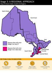 L'Ontario passe à l'étape 3 du plan de réouverture