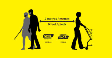 La distanciation physique : Un défi pour les aveugles ou les malvoyants